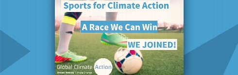 Sports for Climate Action – we joined