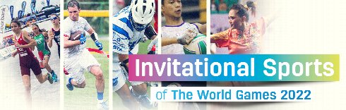 Five invitational sports in The World Games 2022