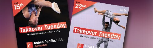 The World Games athletes take over!