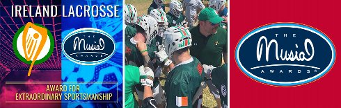 Ireland Lacrosse Selected to Receive Prestigious 2020 Musial Award