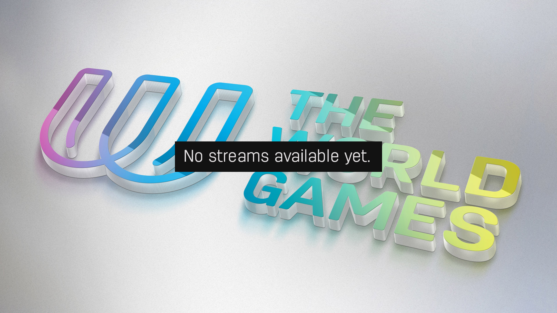 No stream available yet